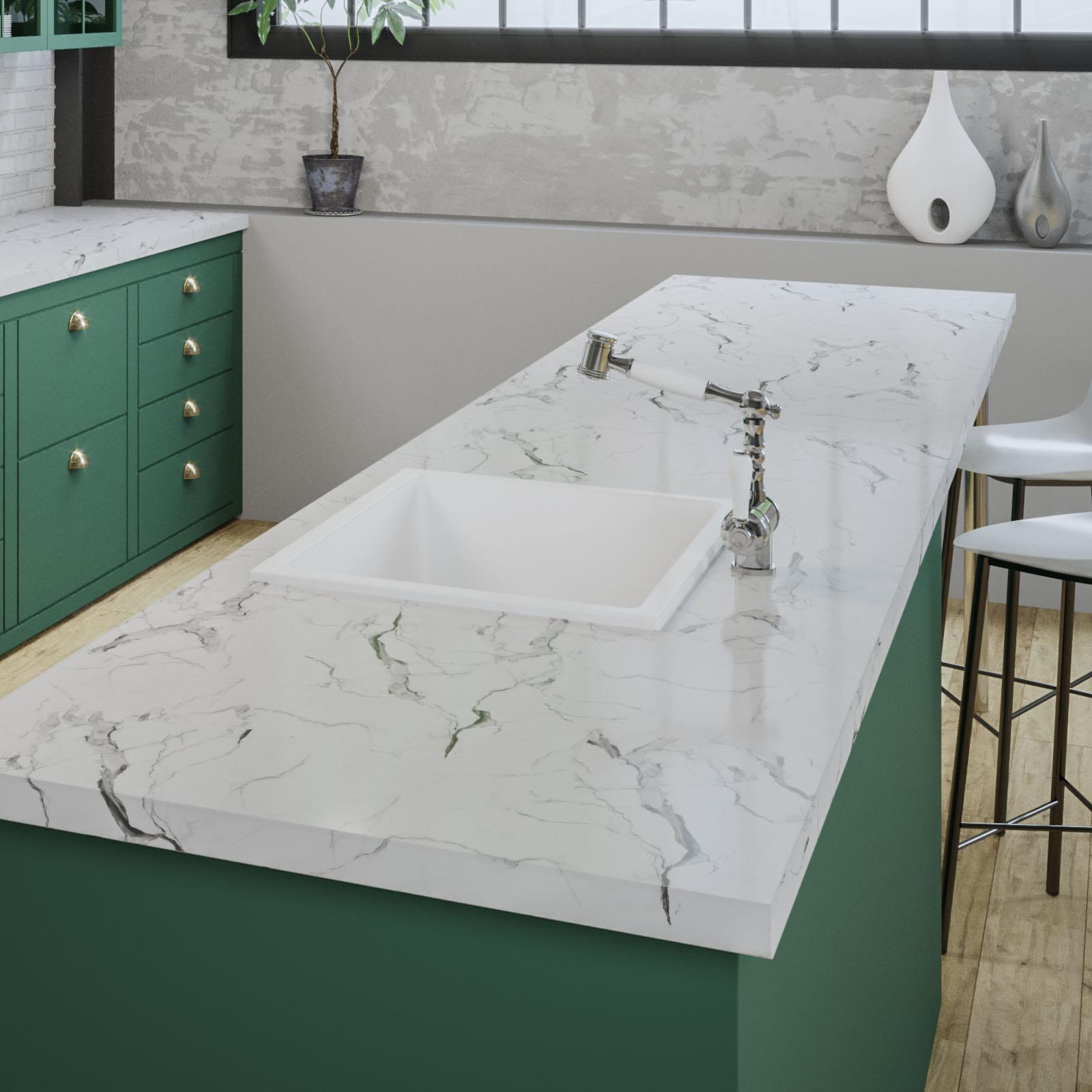 High-quality sink Constance white - ambiente 2