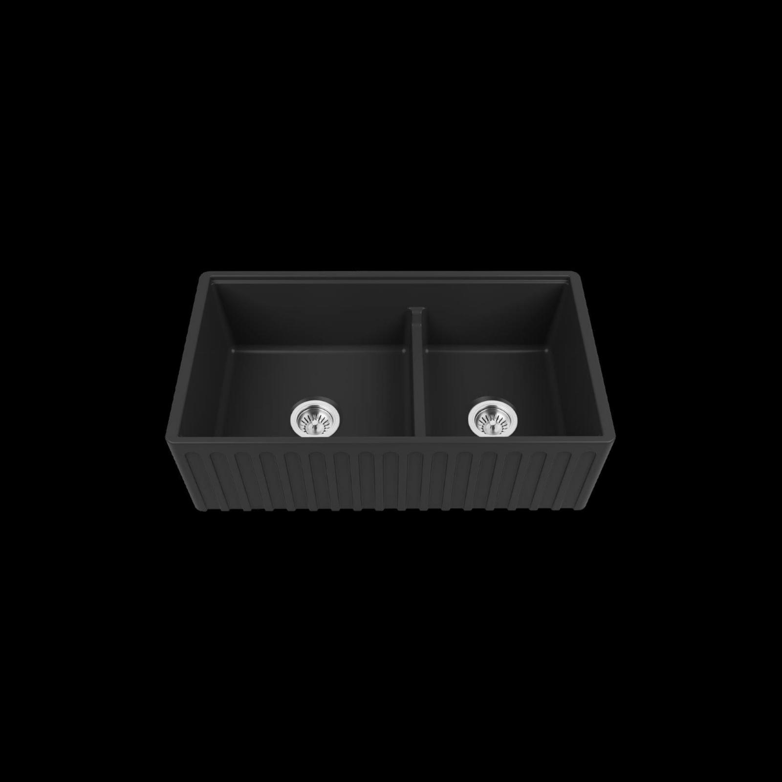 High-quality sink Louis Le Grand II black - single bowl, ceramic