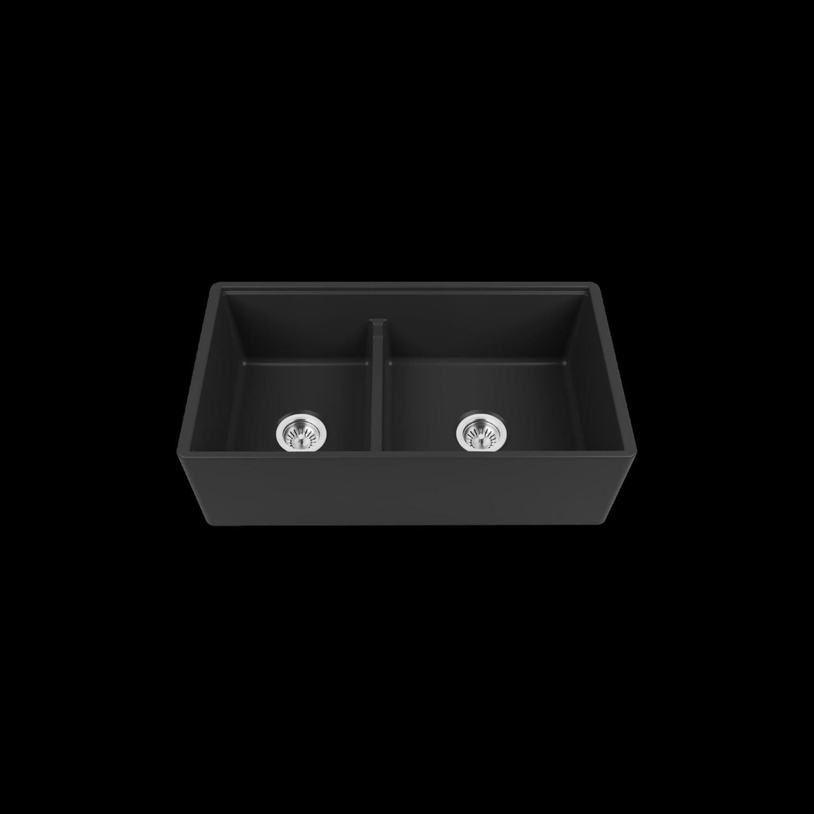 High-quality sink Louis Le Grand II black - single bowl, ceramic - 2