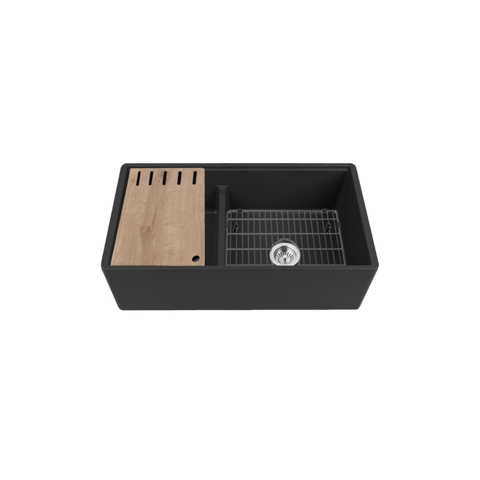 High-quality sink Louis Le Grand II black - single bowl, ceramic - 3