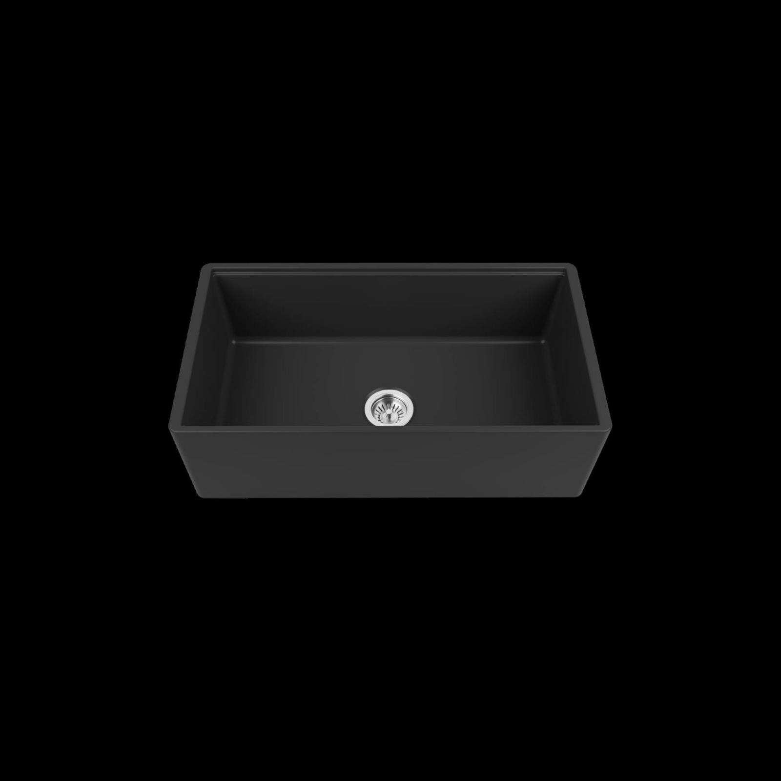 High-quality sink Louis Le Grand III black - single bowl, ceramic - 2