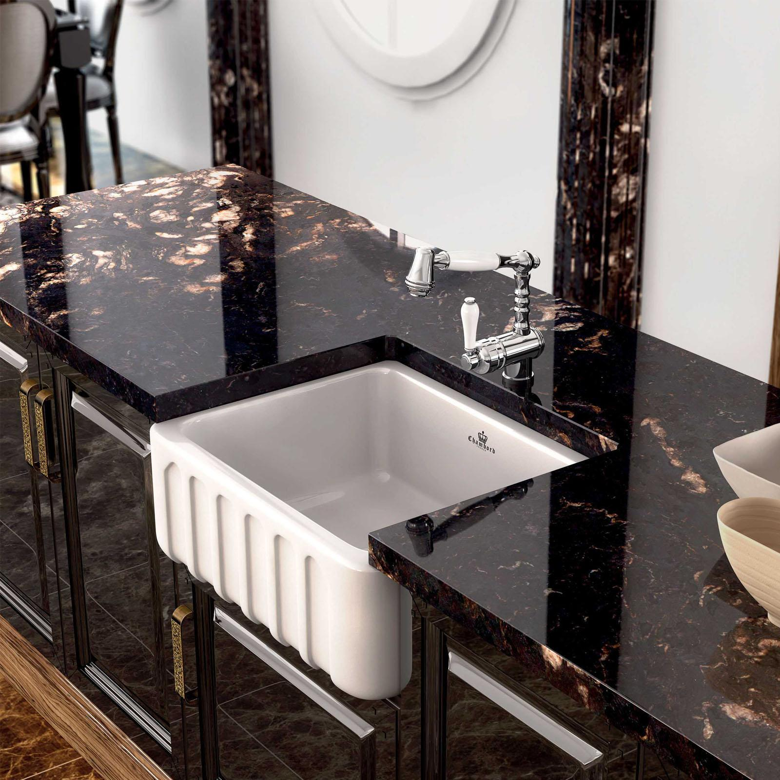 High-quality sink Louis I - single bowl, ceramic - ambience 2