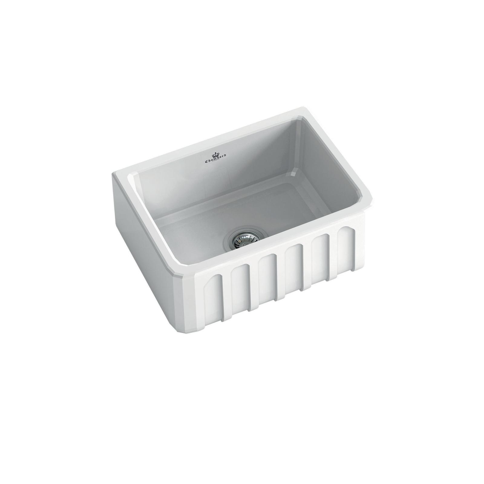 High-quality sink Louis I - single bowl, ceramic - ambience 3