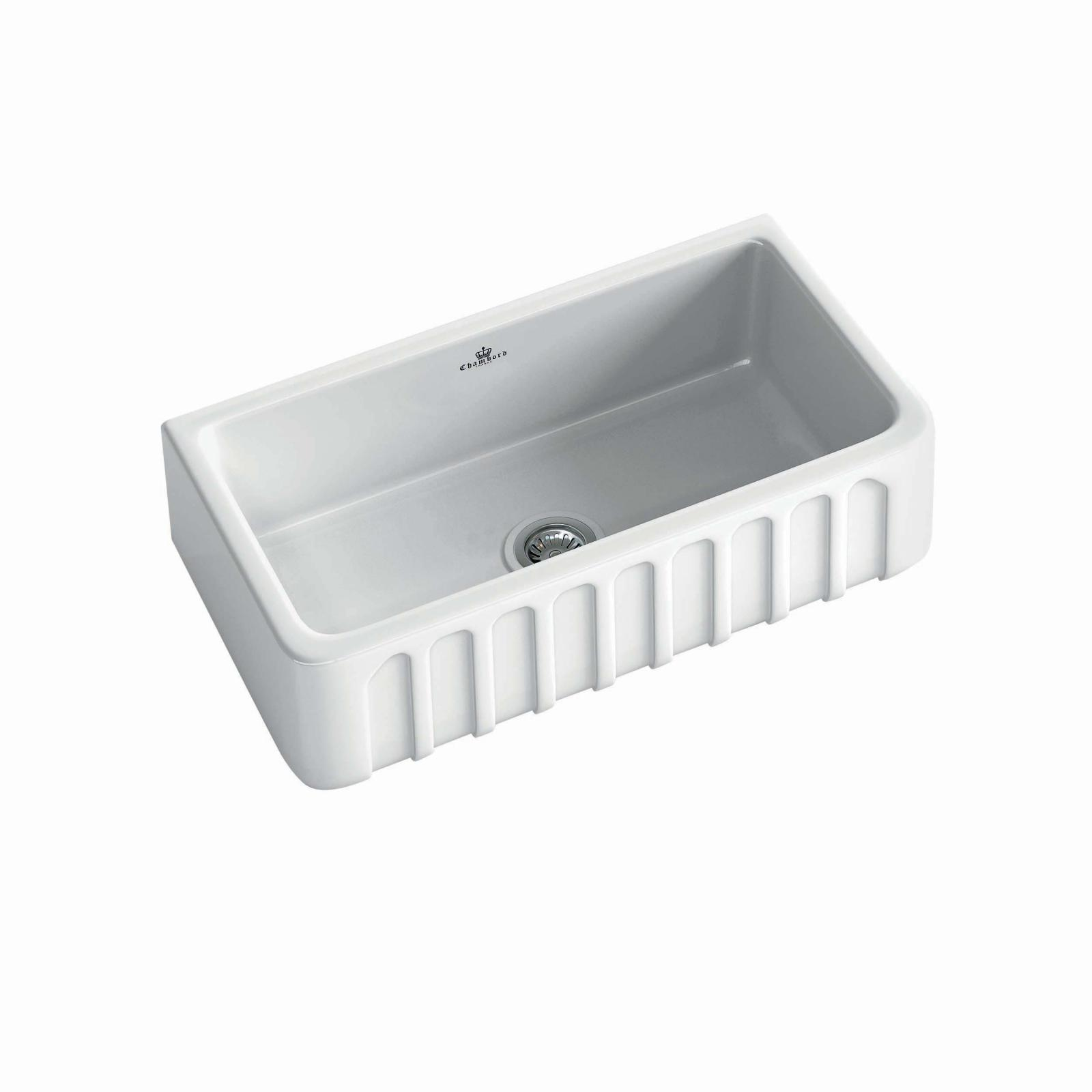 High-quality sink Louis II - single bowl, ceramic - ambience 1