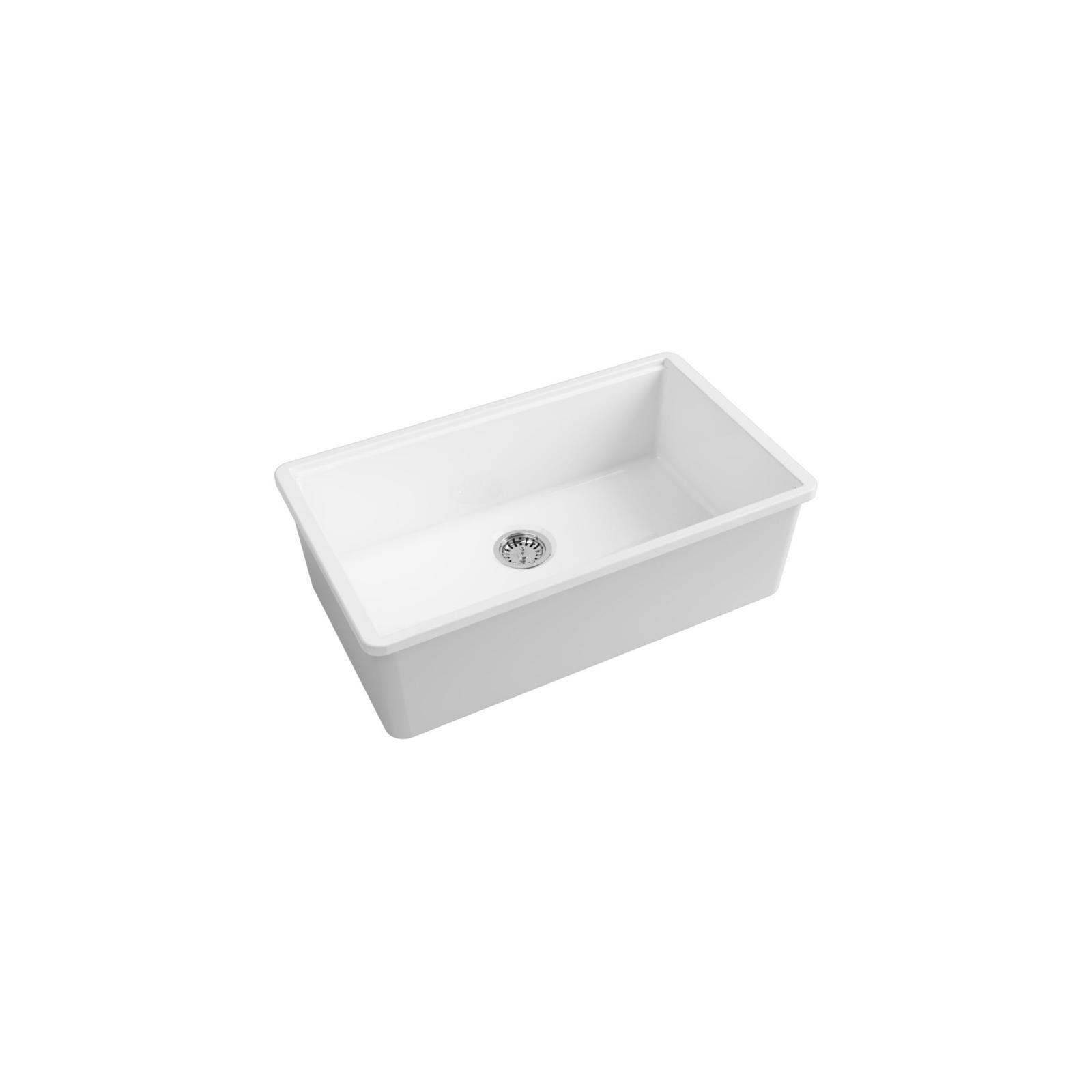 High-quality sink Anne white - single bowl, ceramic