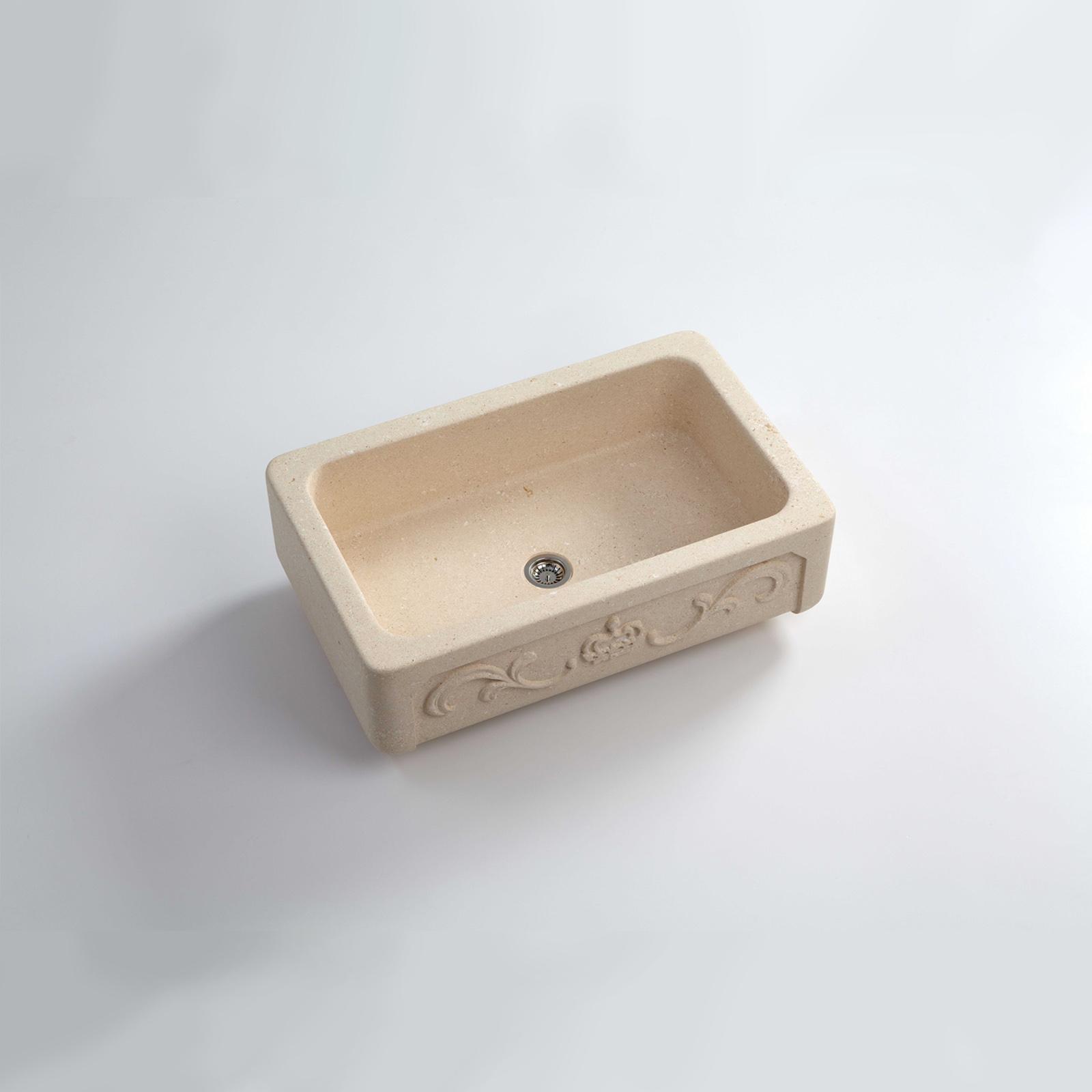 High-quality sink Childéric I - single bowl, vicenza stone