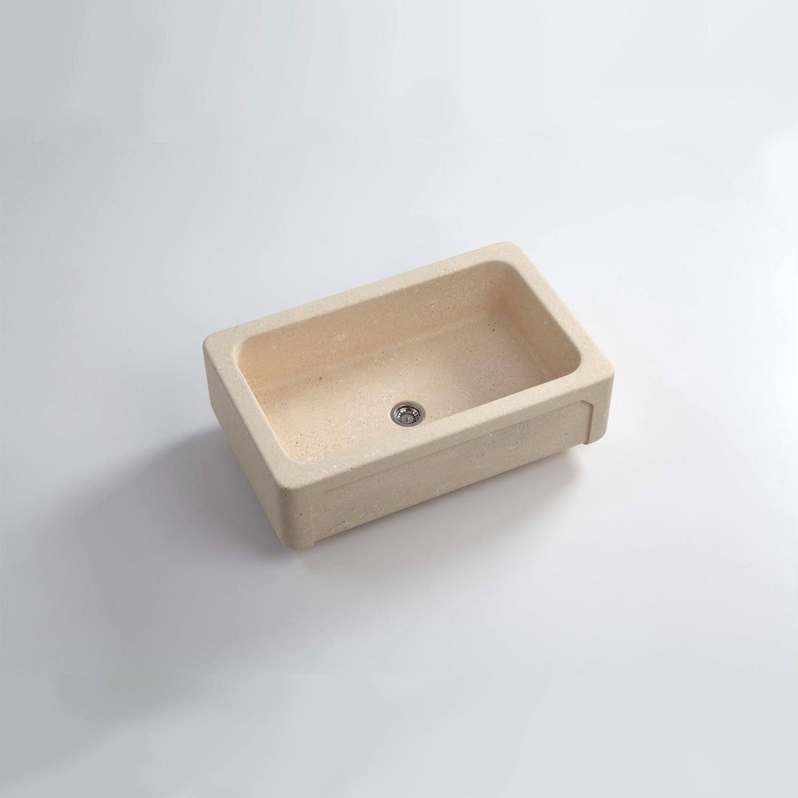 High-quality sink Childéric II - single bowl, vicenza stone