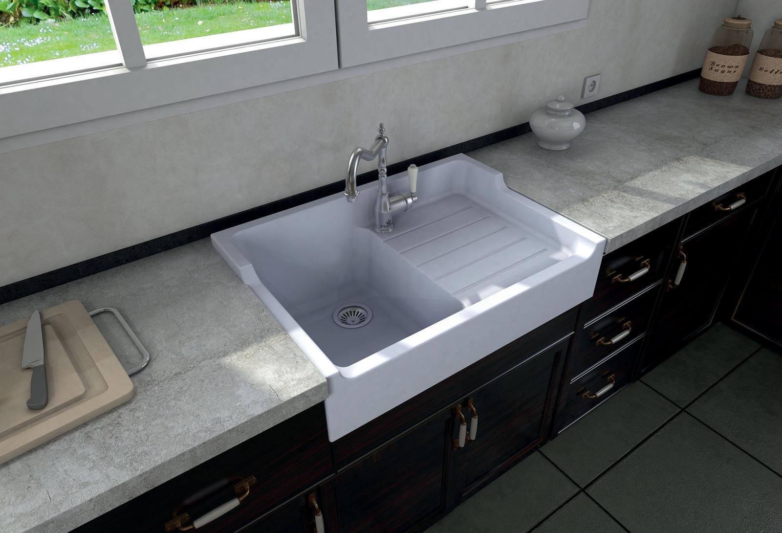 High-quality sink Francois 1 - single bowl, ceramic - ambience 1