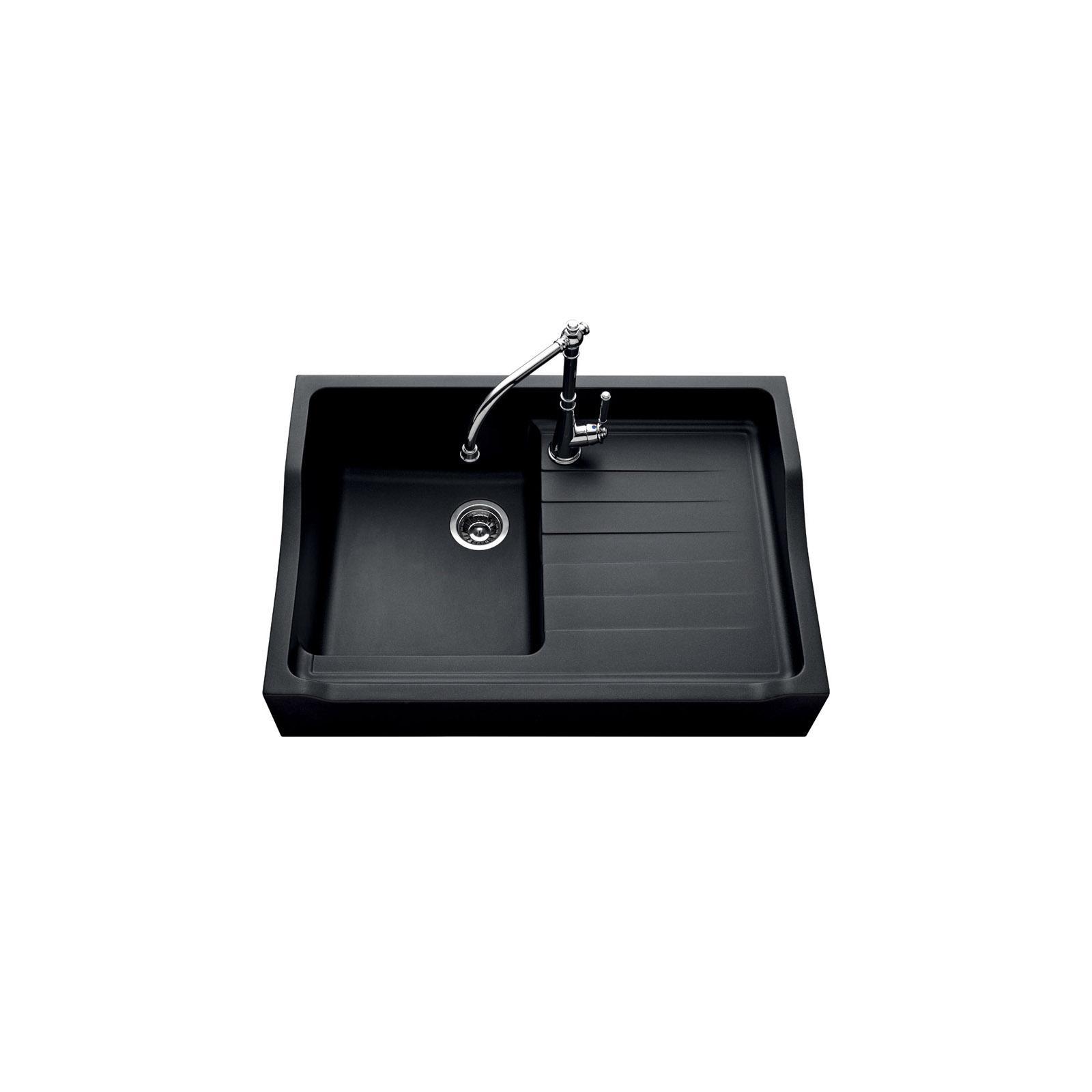 High-quality sink François 1er granit black - one bowl