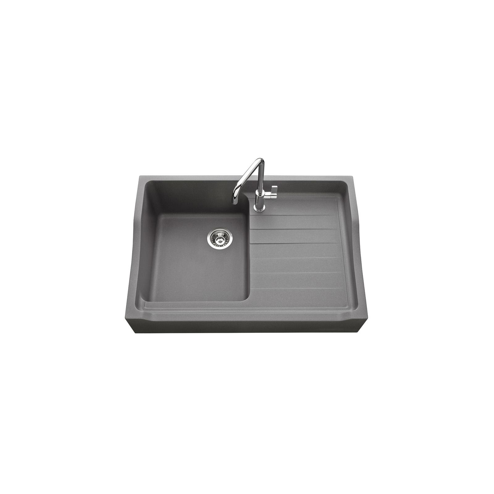 High-quality sink François 1er granit titanium gray - one bowl