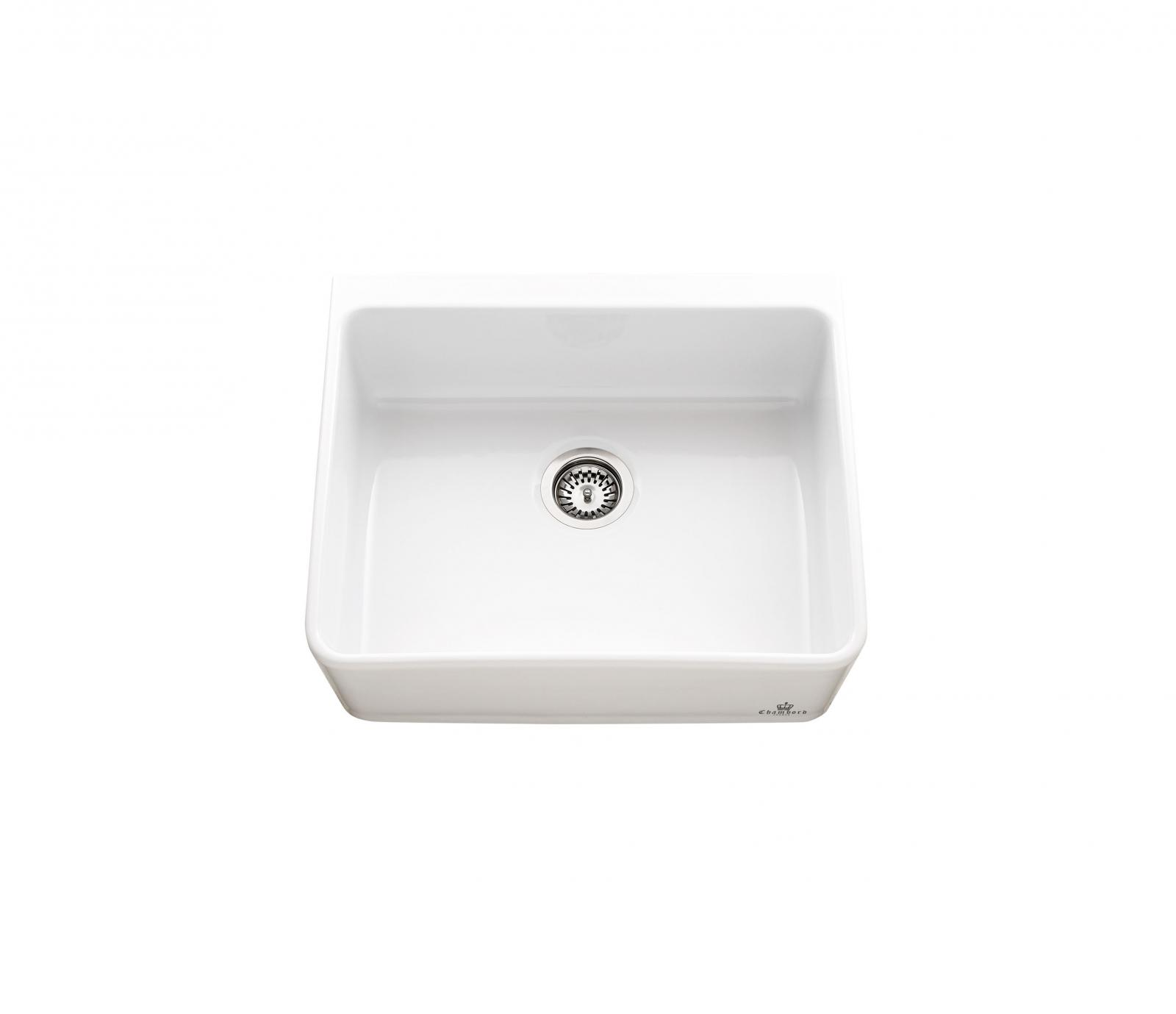 High-quality sink Clotaire I - single bowl, ceramic - ambience 2