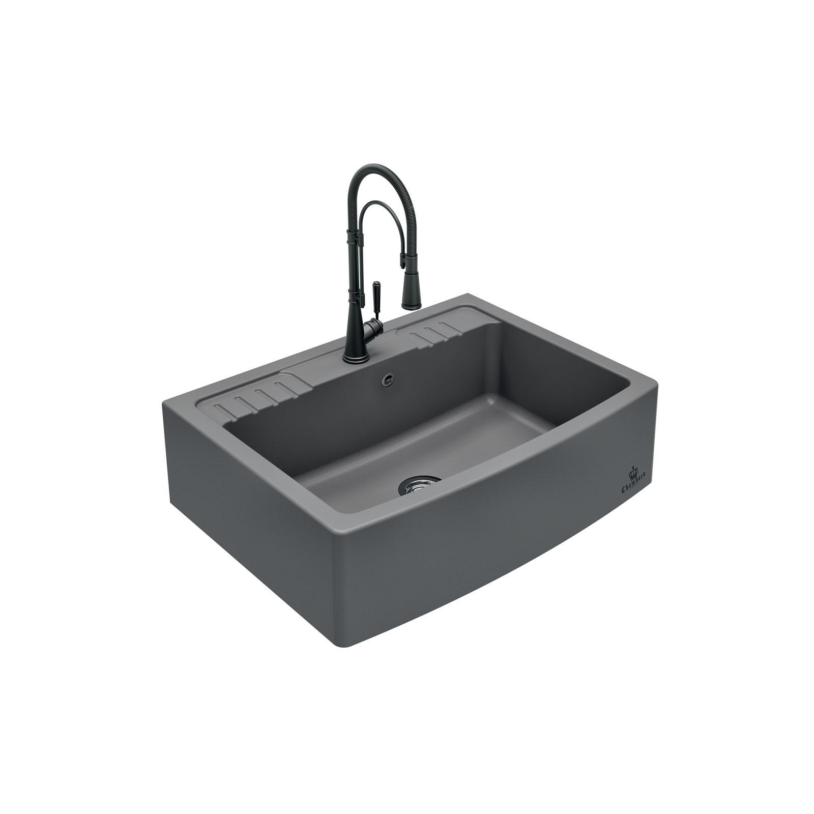 High-quality sink Clotaire IV granit titanium - one bowl