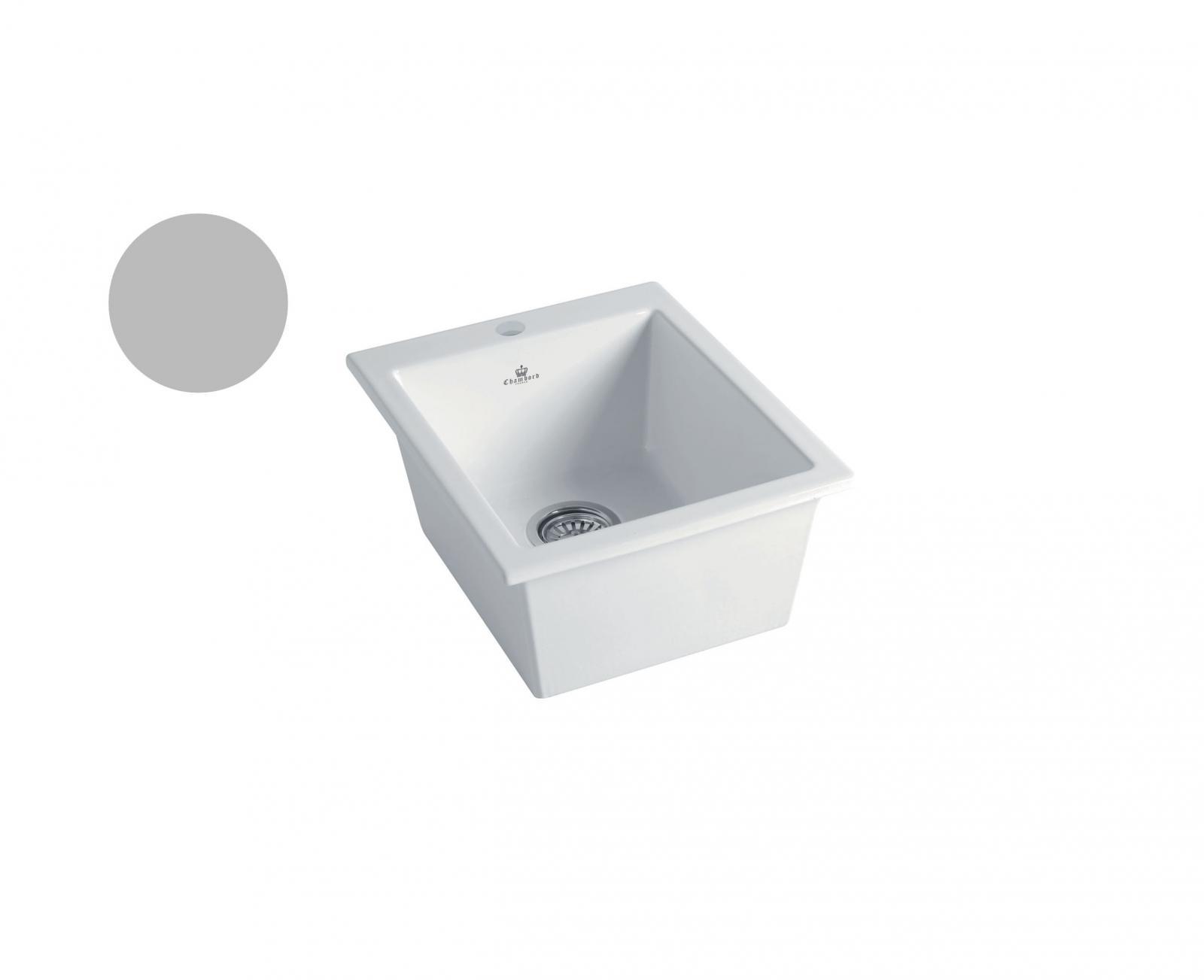 High-quality sink Constance light grey