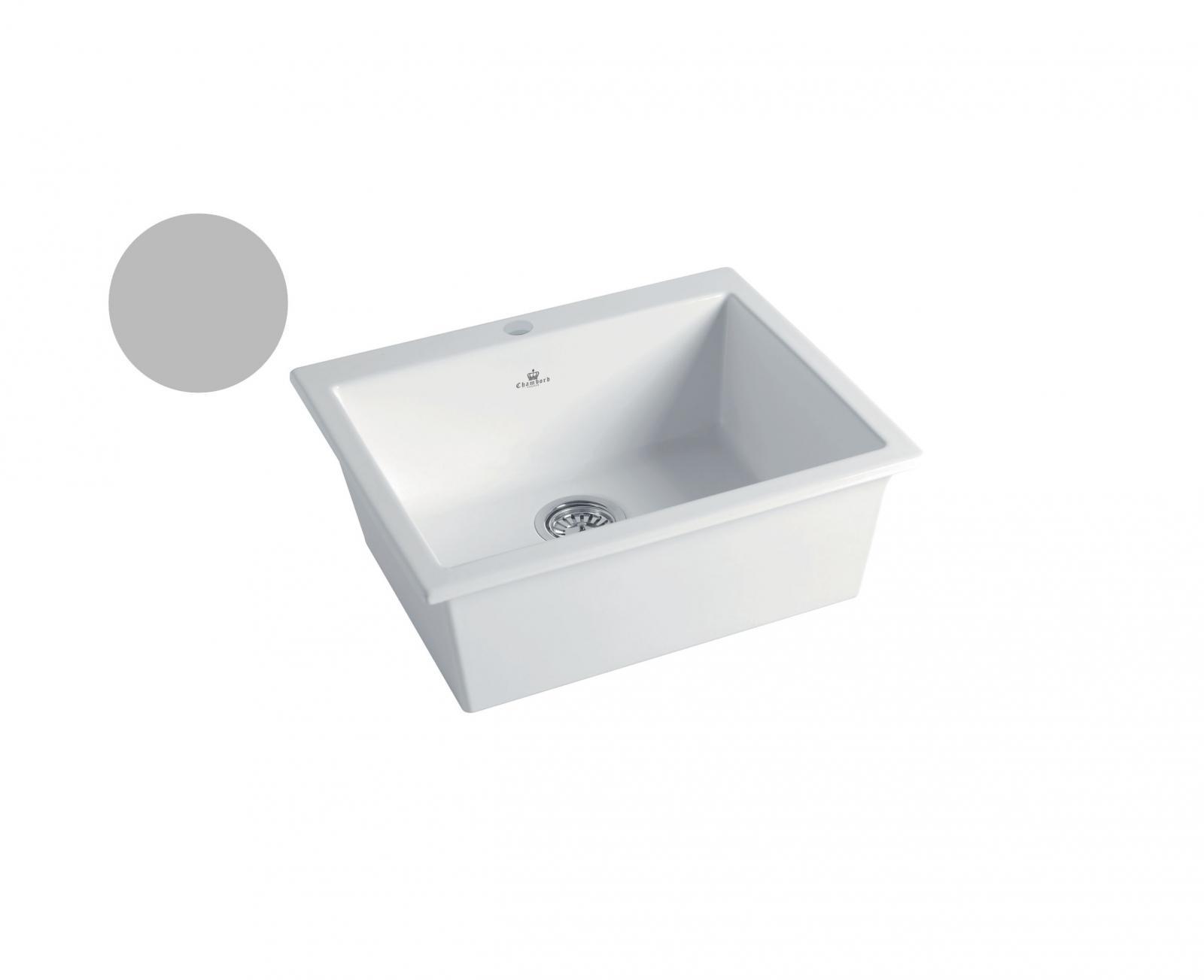 High-quality sink Constance II light grey