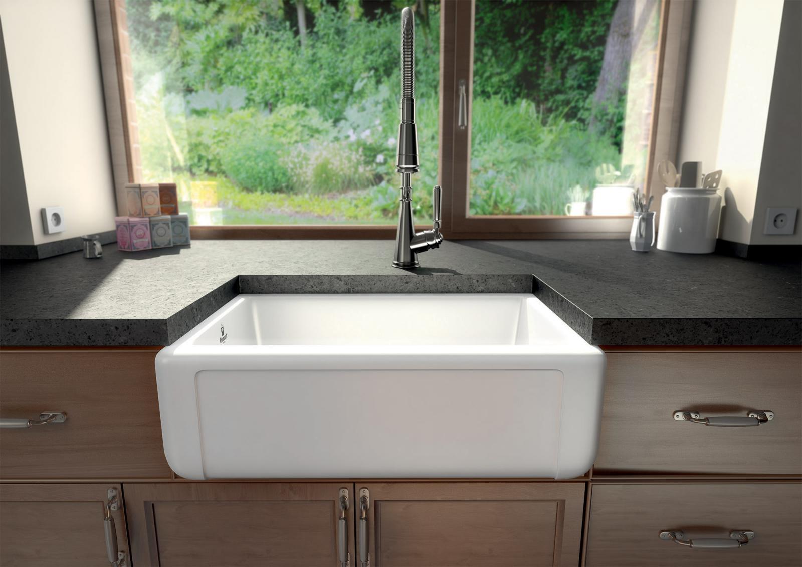 High-quality sink Henri II Le Grand - single bowl, ceramic - 2