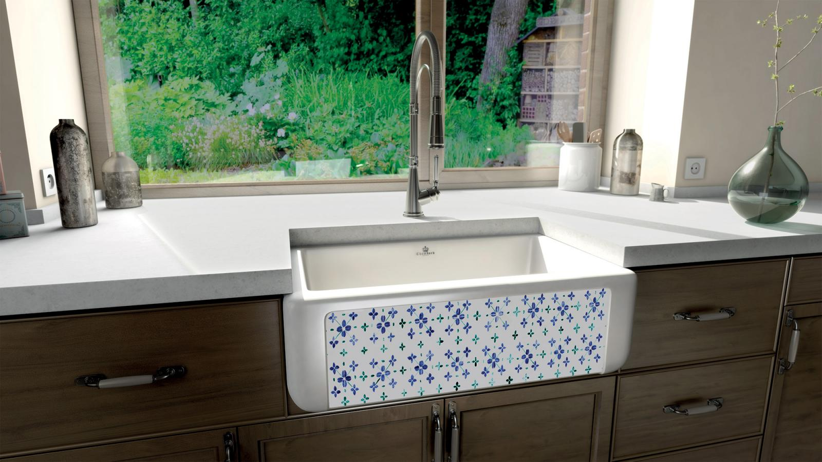 High-quality sink Henri II Le Grand Bretagne - single bowl, ceramic
