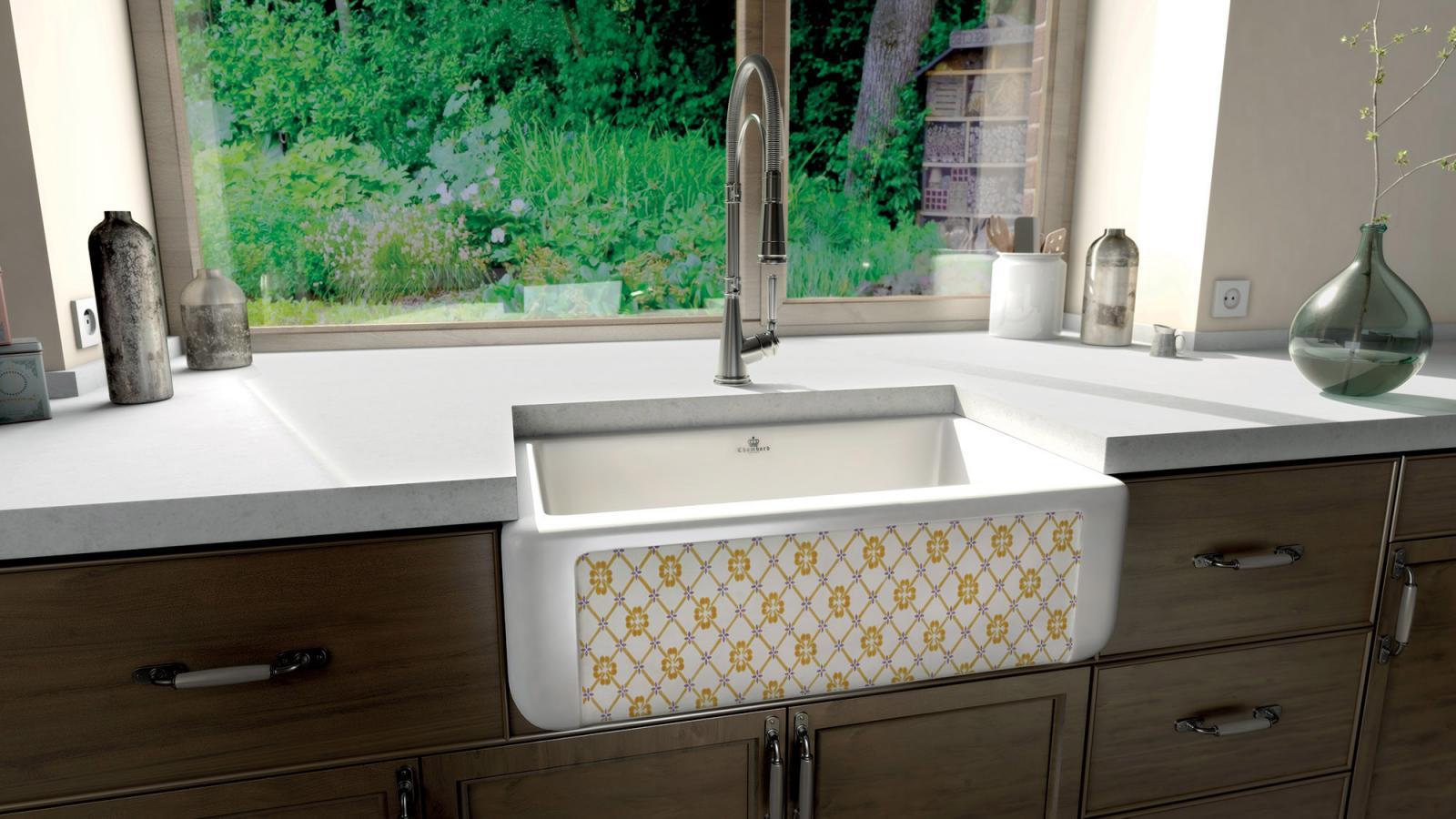 High-quality sink Henri II Le Grand Province - single bowl, ceramic