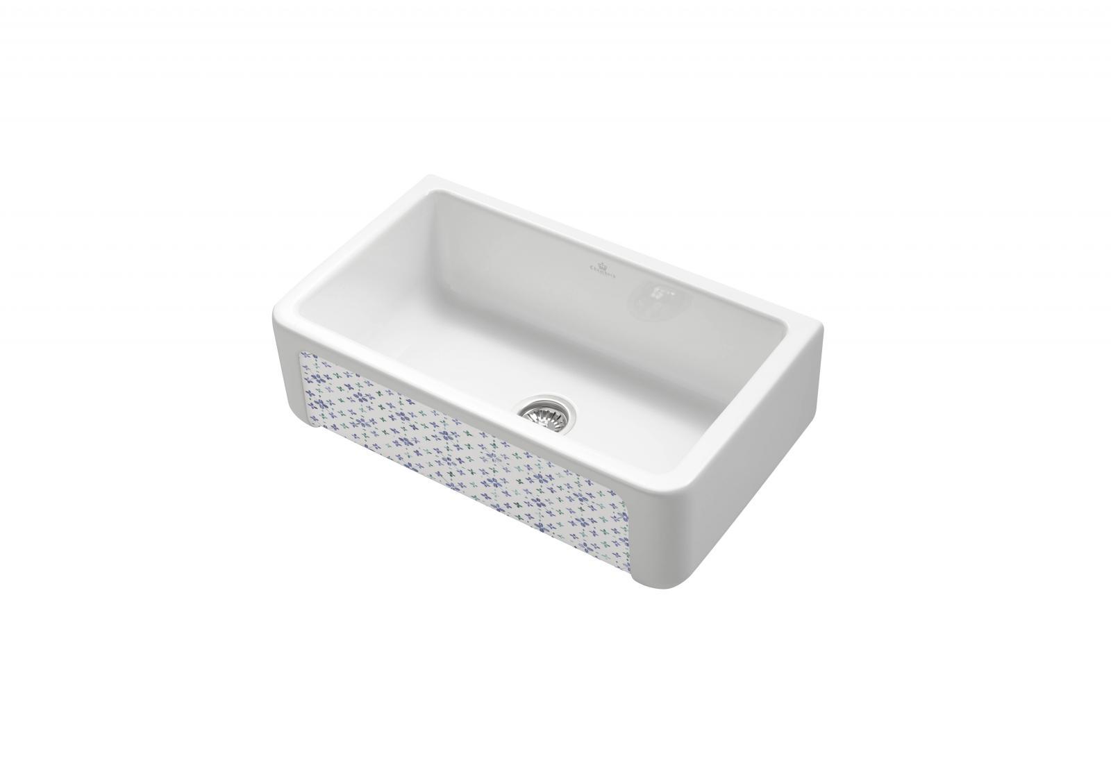 High-quality sink Henri II Le Grand Bretagne - single bowl, ceramic ambience