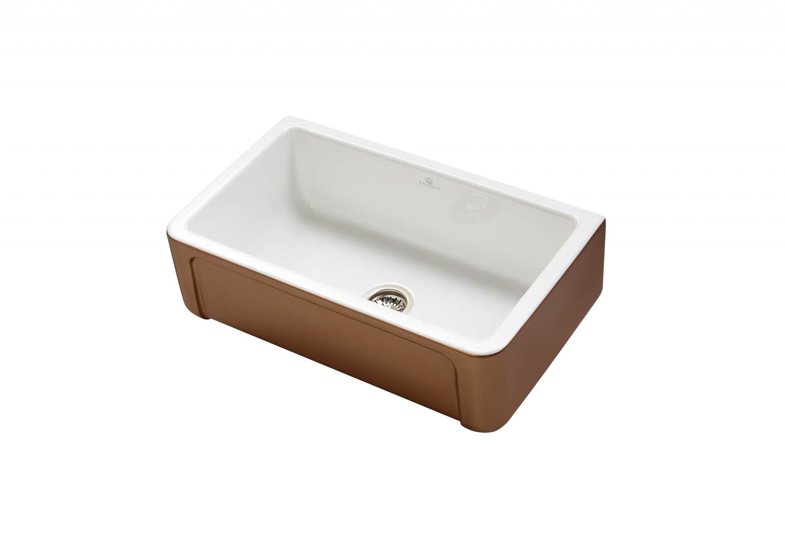 High-quality sink Henri II Le Grand Copper - single bowl, ceramic ambience