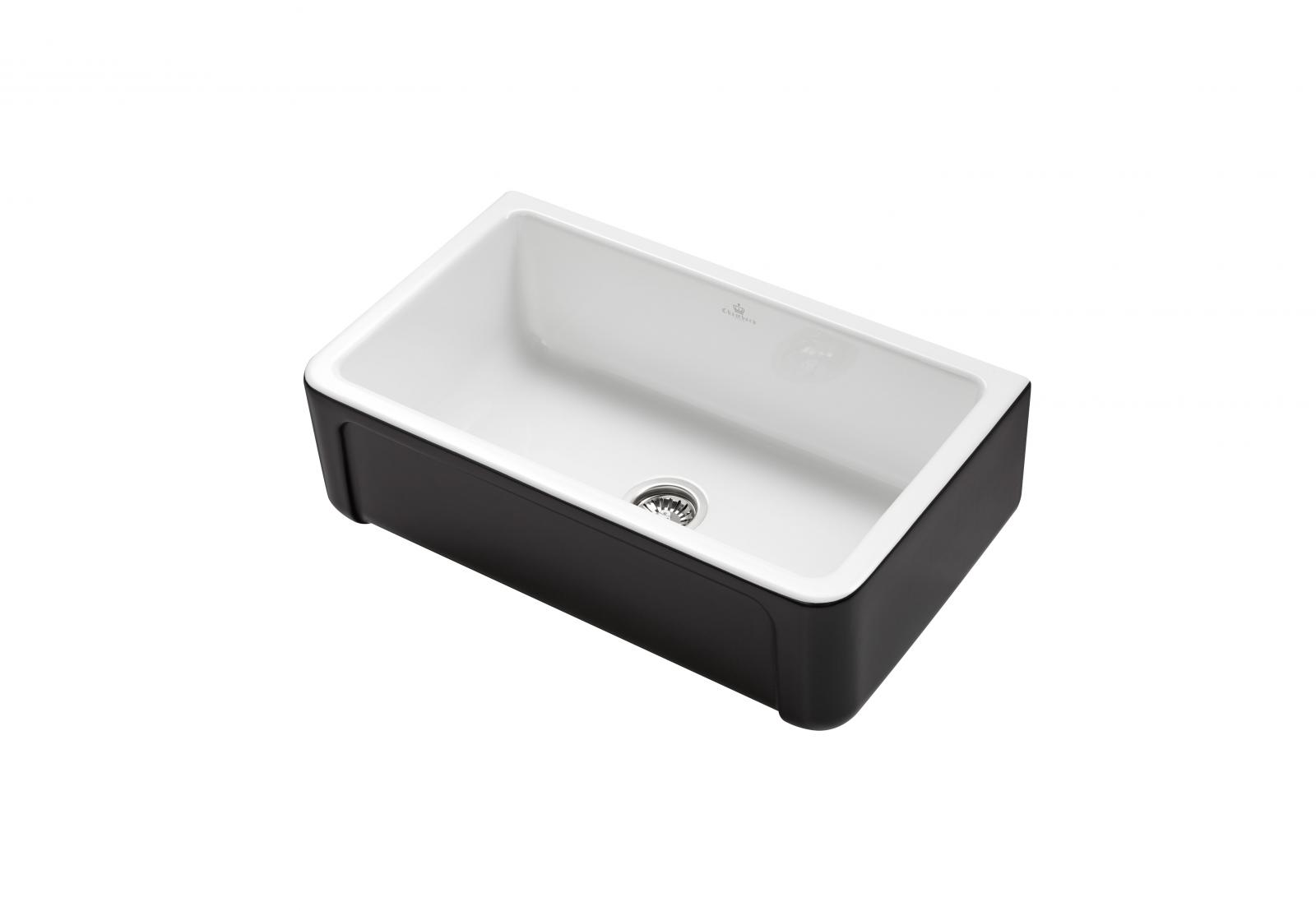 High-quality sink Henri II Le Grand Black - single bowl, ceramic ambience