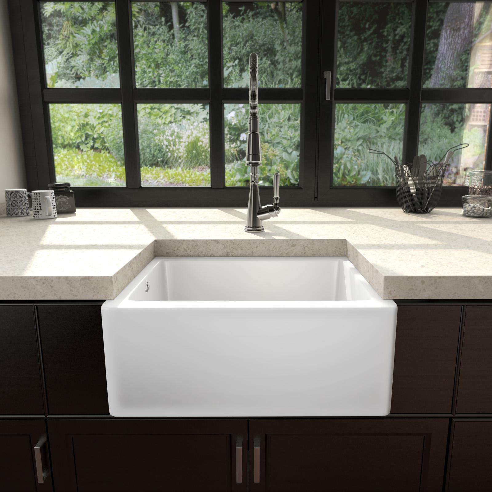High-quality sink Philippe I - single bowl, ceramic - ambience 2