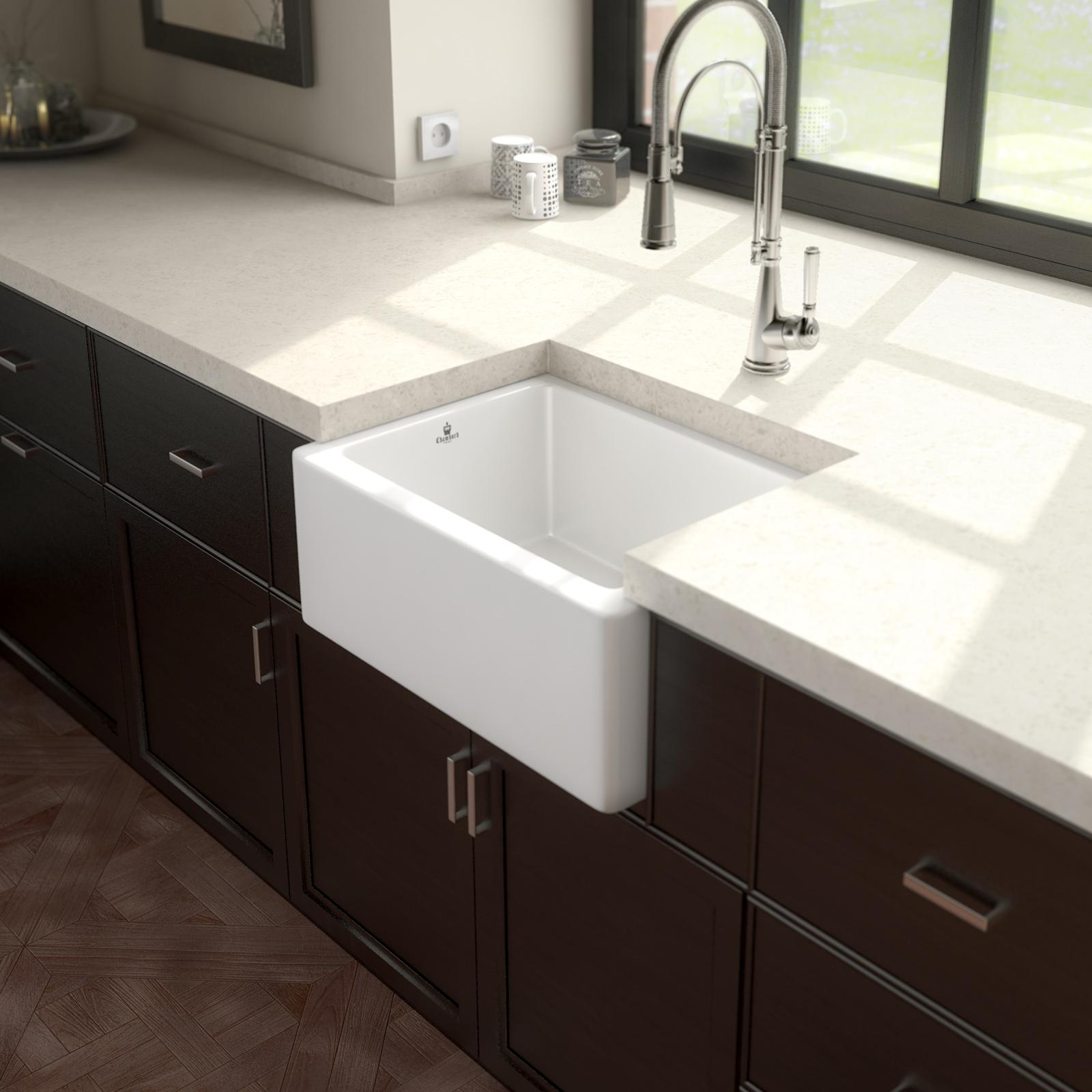 High-quality sink Philippe I - single bowl, ceramic - ambience 1