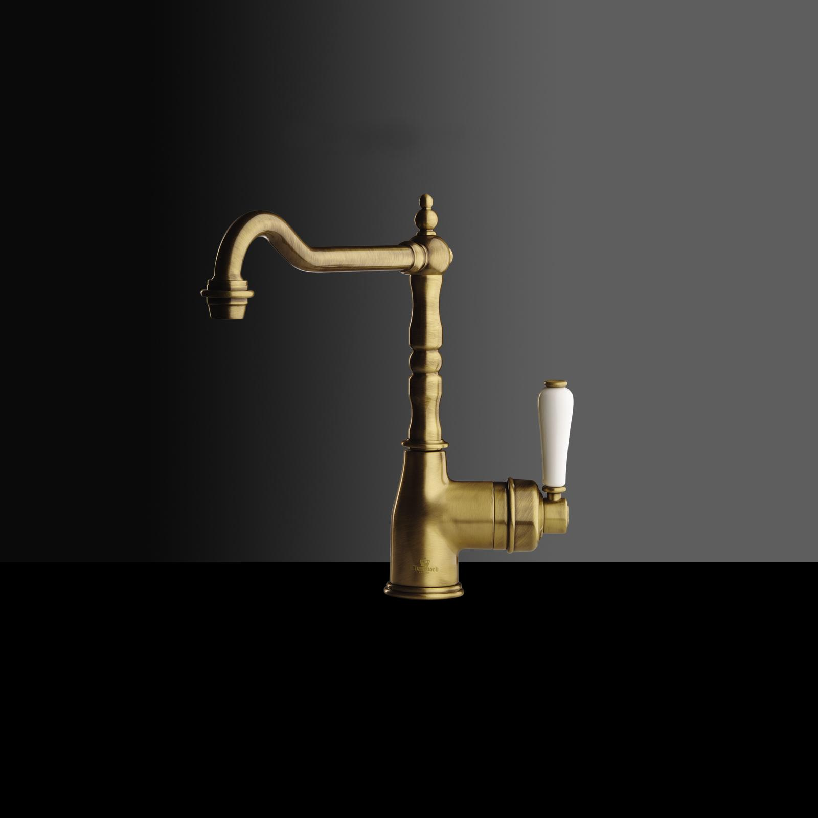 High-quality single lever tap Charlotte - Bronze