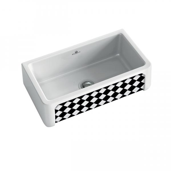 High-quality sink Henri II Arlequin - single bowl, decorated ceramic ambience