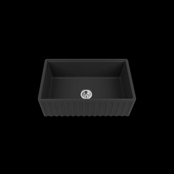 High-quality sink Louis Le Grand I black - single bowl, ceramic