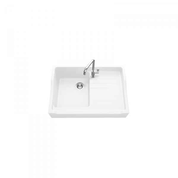 High-quality sink François 1er granit white - one bowl