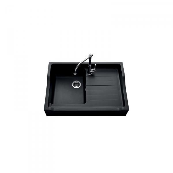 Evier haut de gamme Francois 1er granit noir - 1 bac