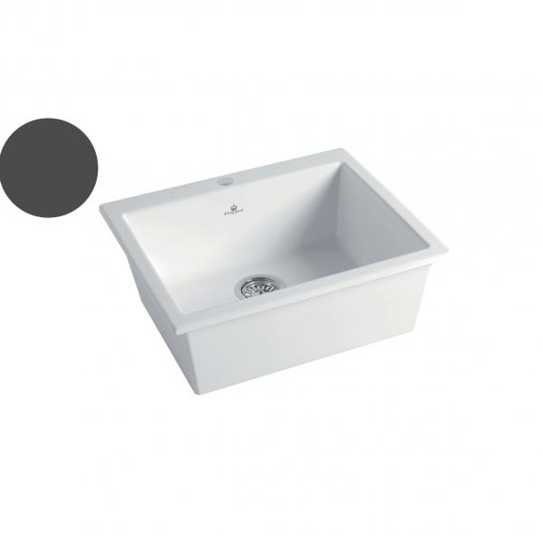 High-quality sink Constance II dark grey