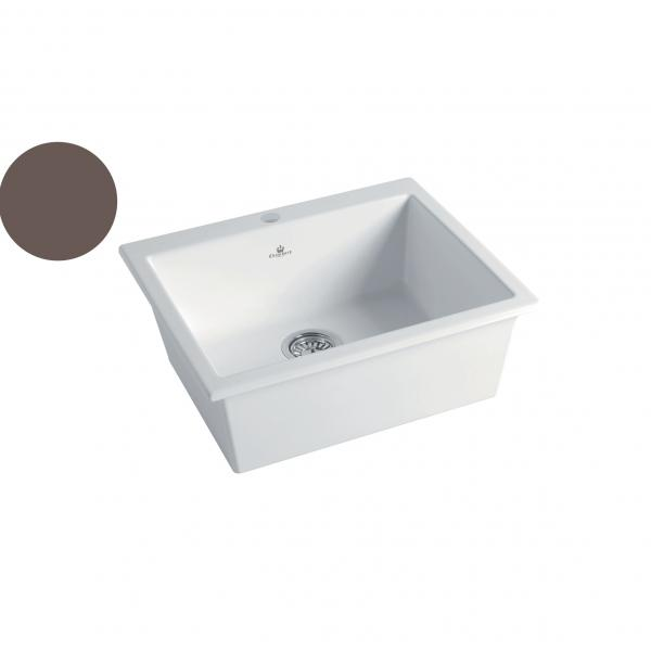 High-quality sink Constance II taupe