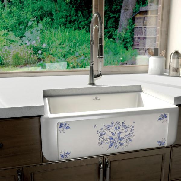 High-quality sink Henri II Le Grand Moustiers - single bowl, ceramic