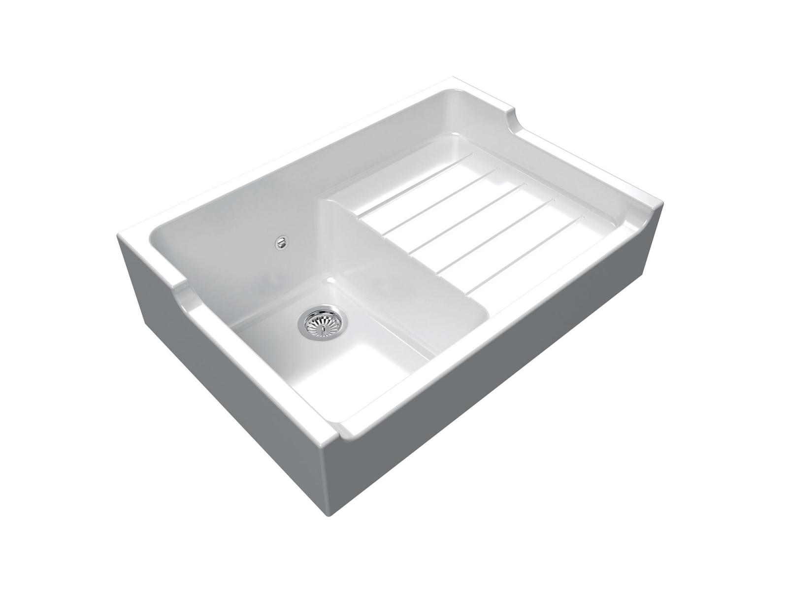 High-quality sink Francois 1 - single bowl, ceramic - ambience 3