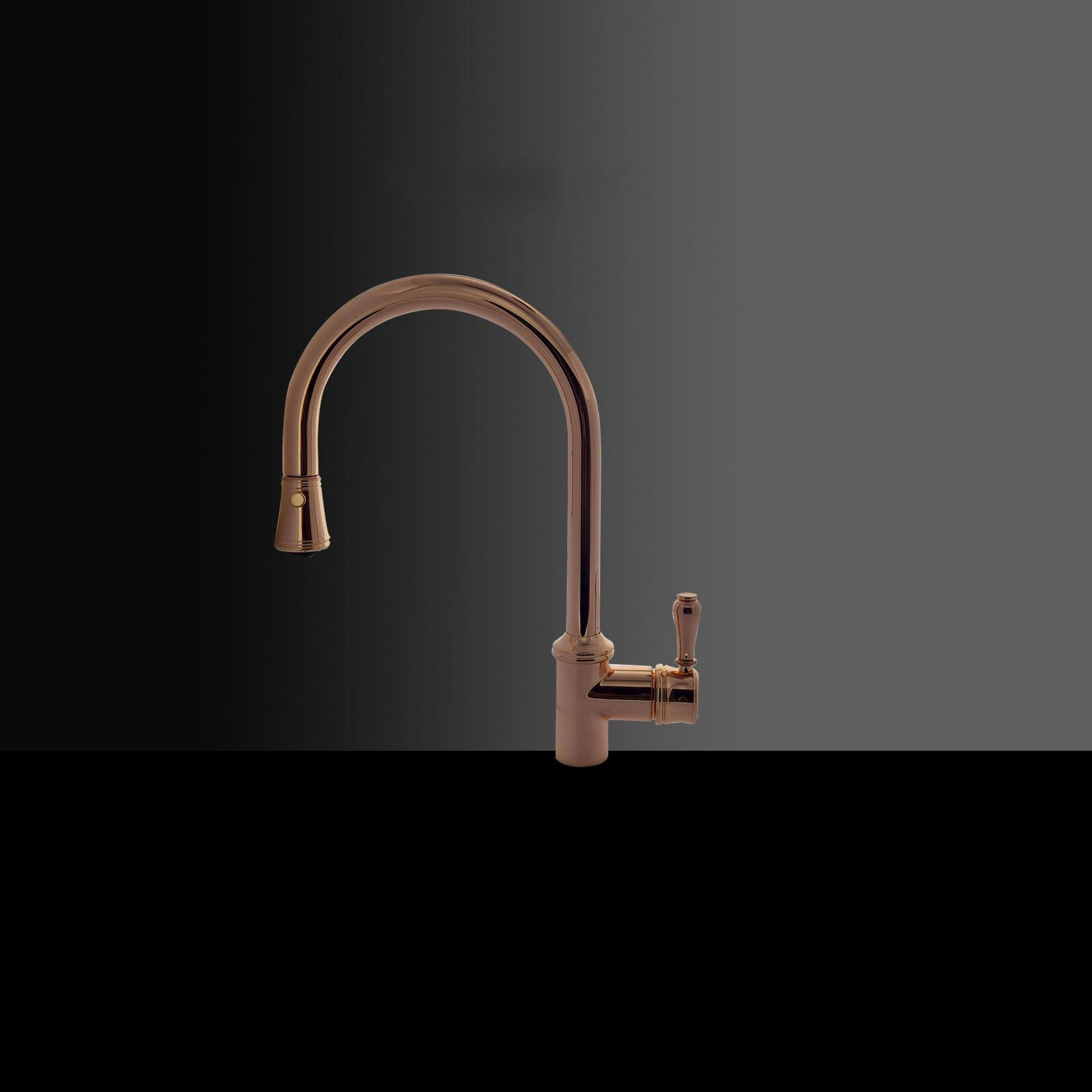 High-quality single lever tap Augustin - Pink Gold
