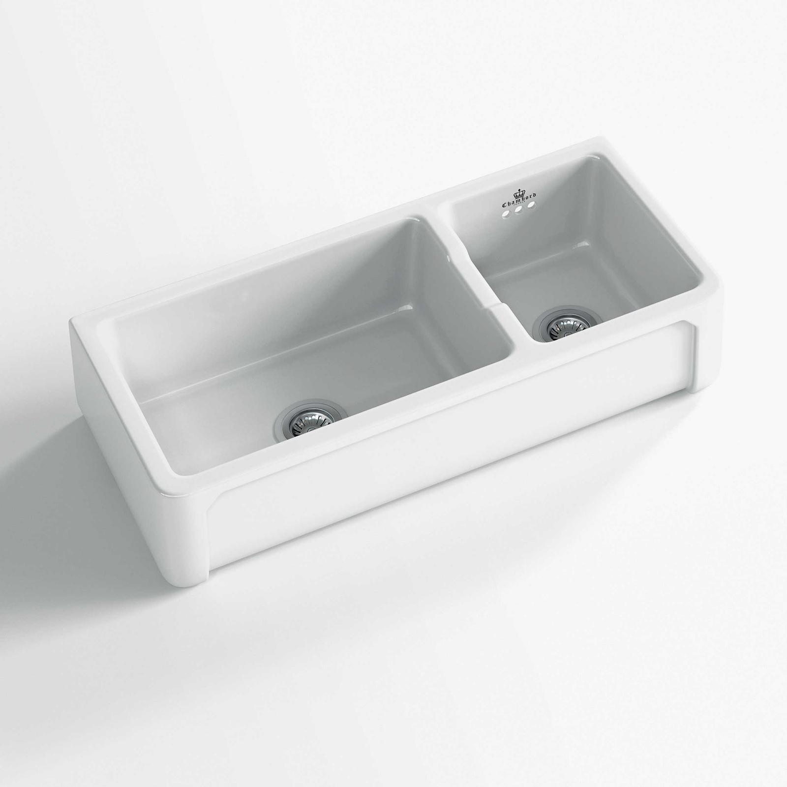 High-quality sink Henri III - one and a half bowl, ceramic