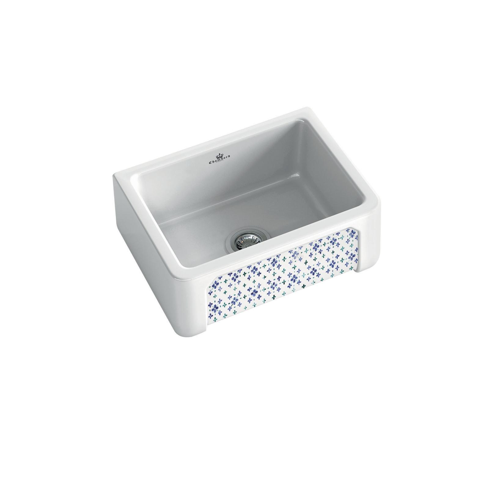 High-quality sink Henri I Bretagne - single bowl, decorated ceramic - ambience 1