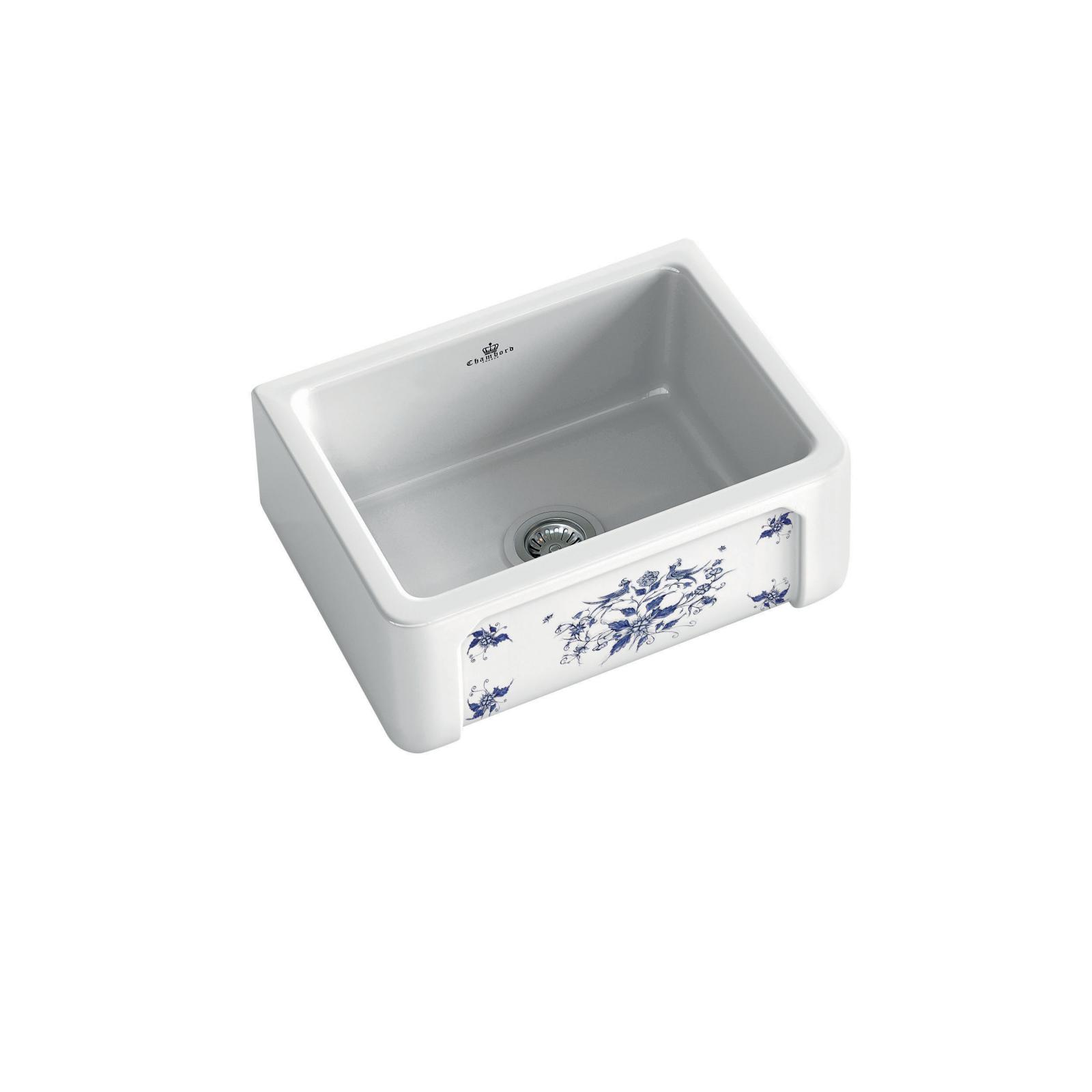 High-quality sink Henri I Moustiers - single bowl, decorated ceramic - ambience 1