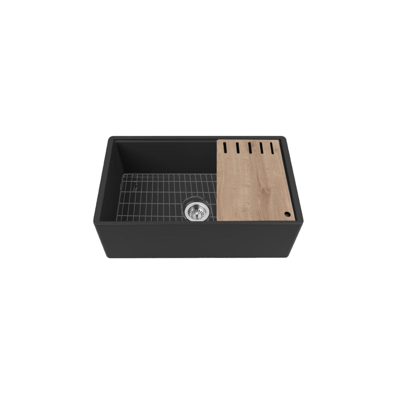 High-quality sink Louis Le Grand I black - single bowl, ceramic - 3