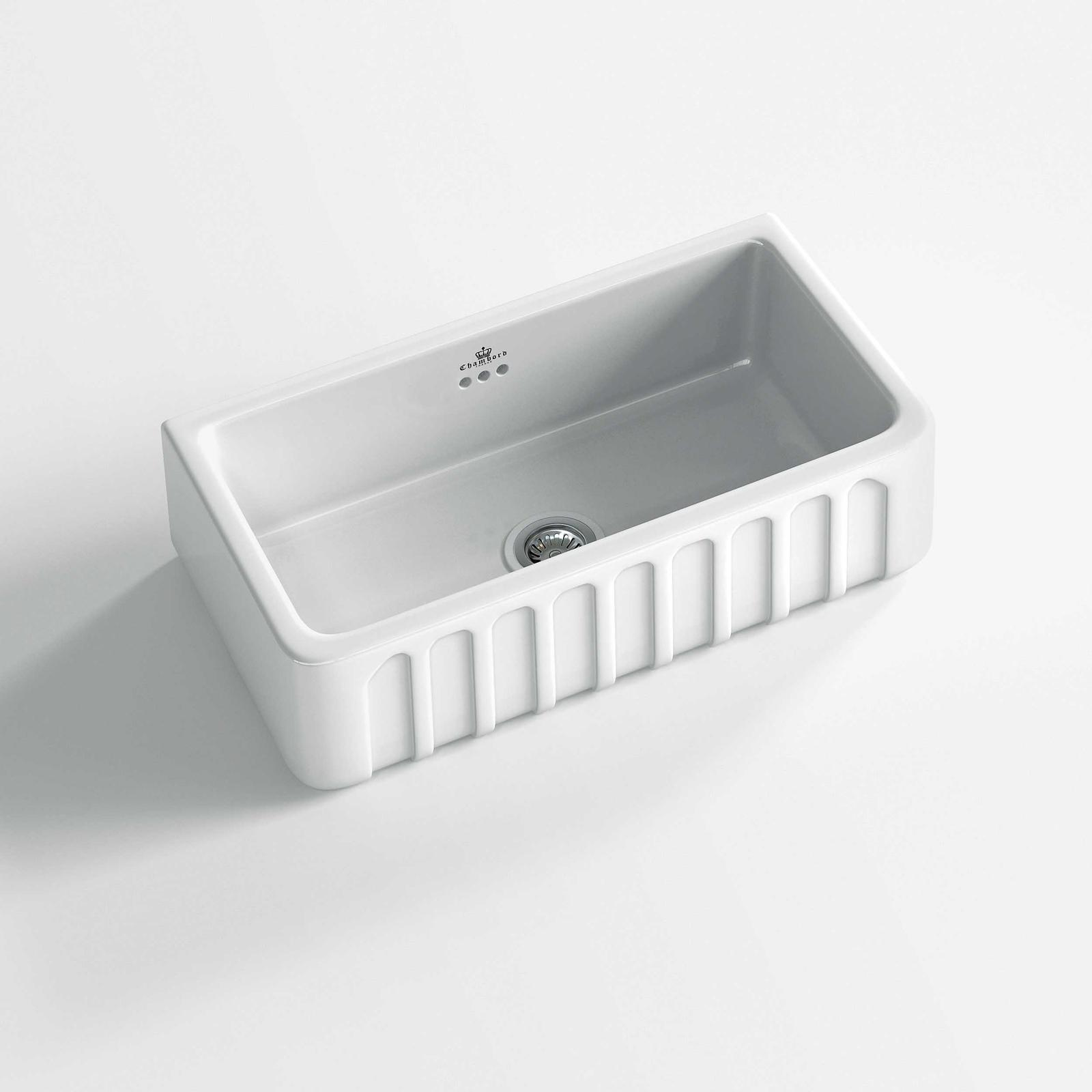 High-quality sink Louis II - single bowl, ceramic