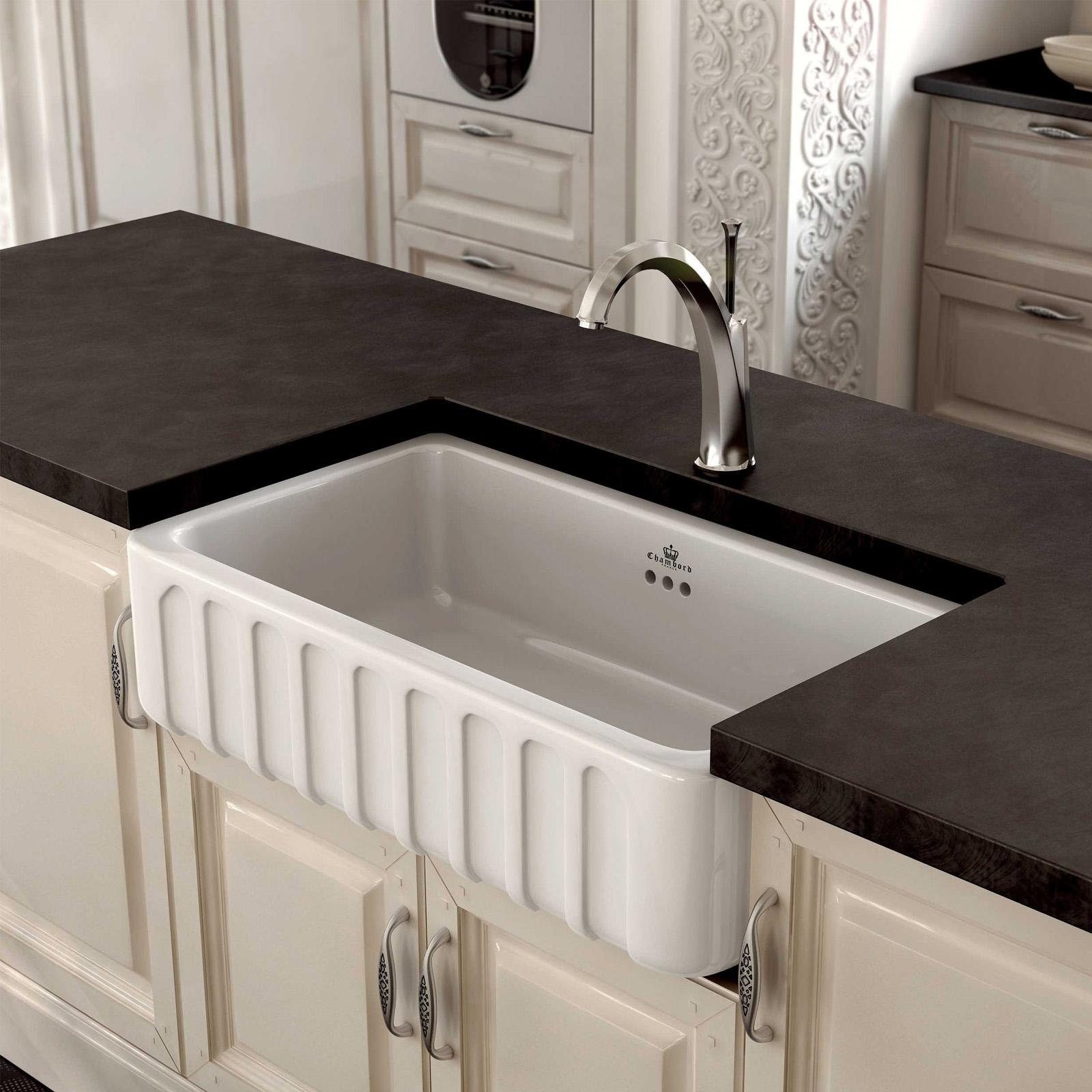 High-quality sink Louis II - single bowl, ceramic - ambience