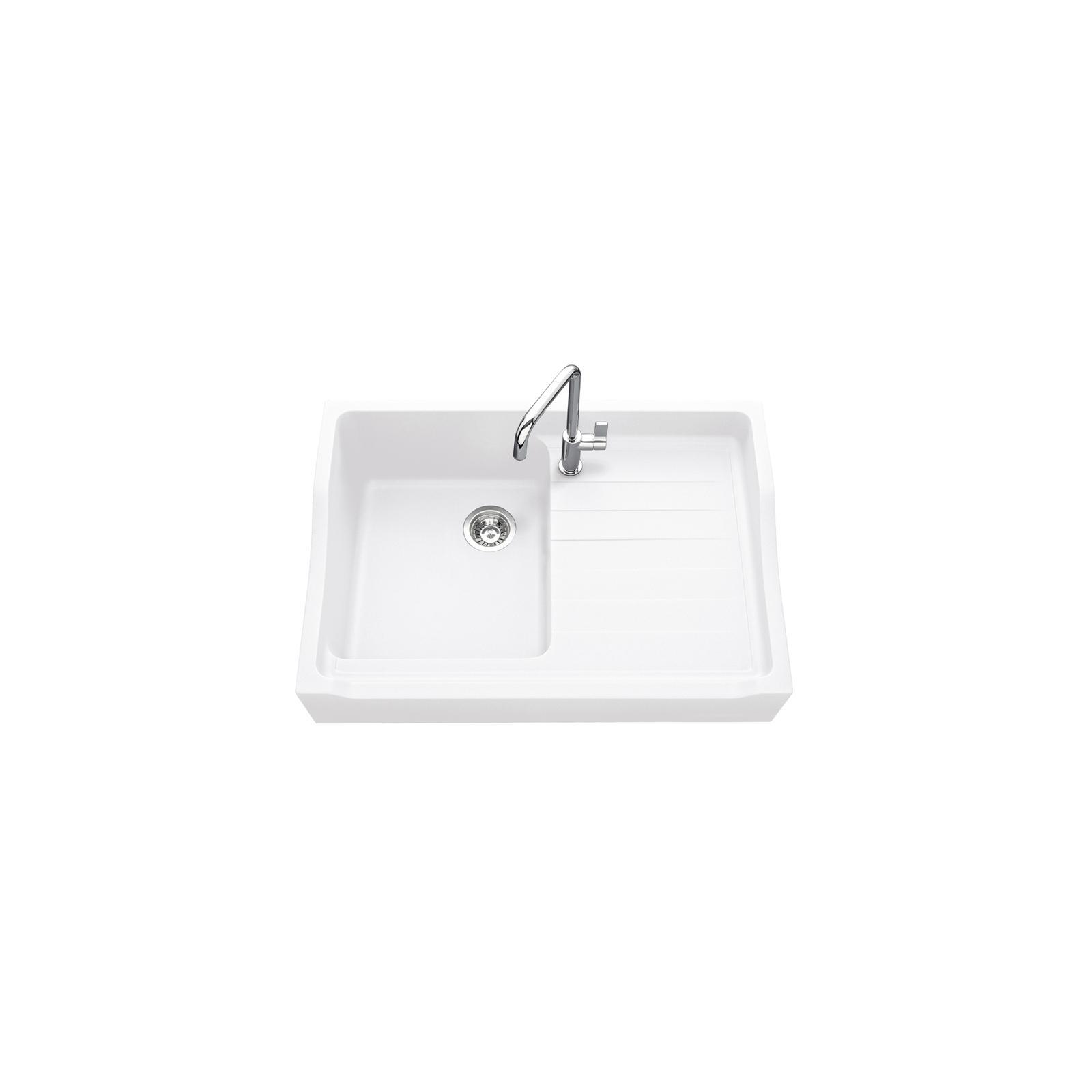 High-quality sink François 1er granit white - one bowl