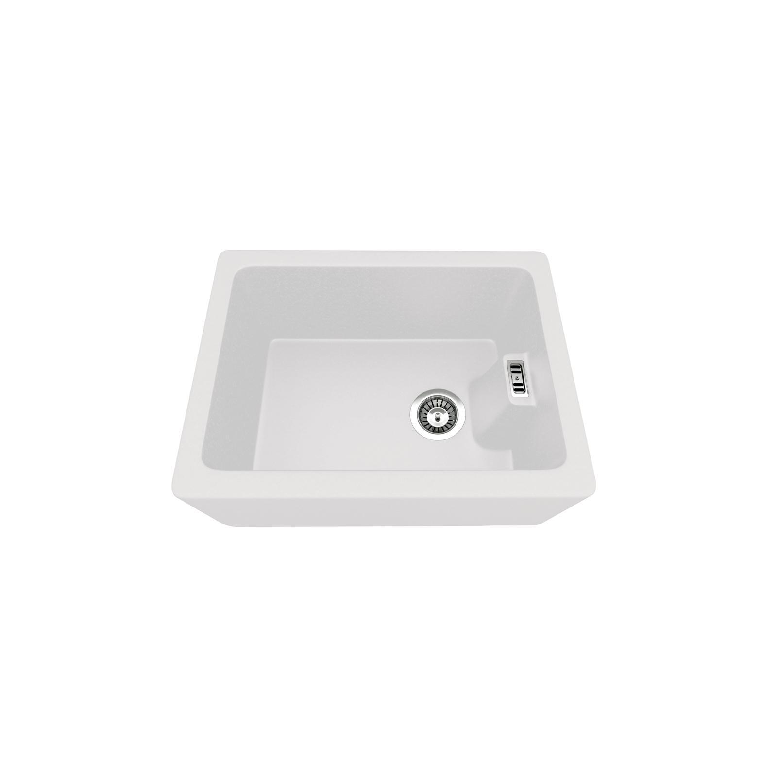 Evier haut de gamme Clovis granit blanc - 1 bac
