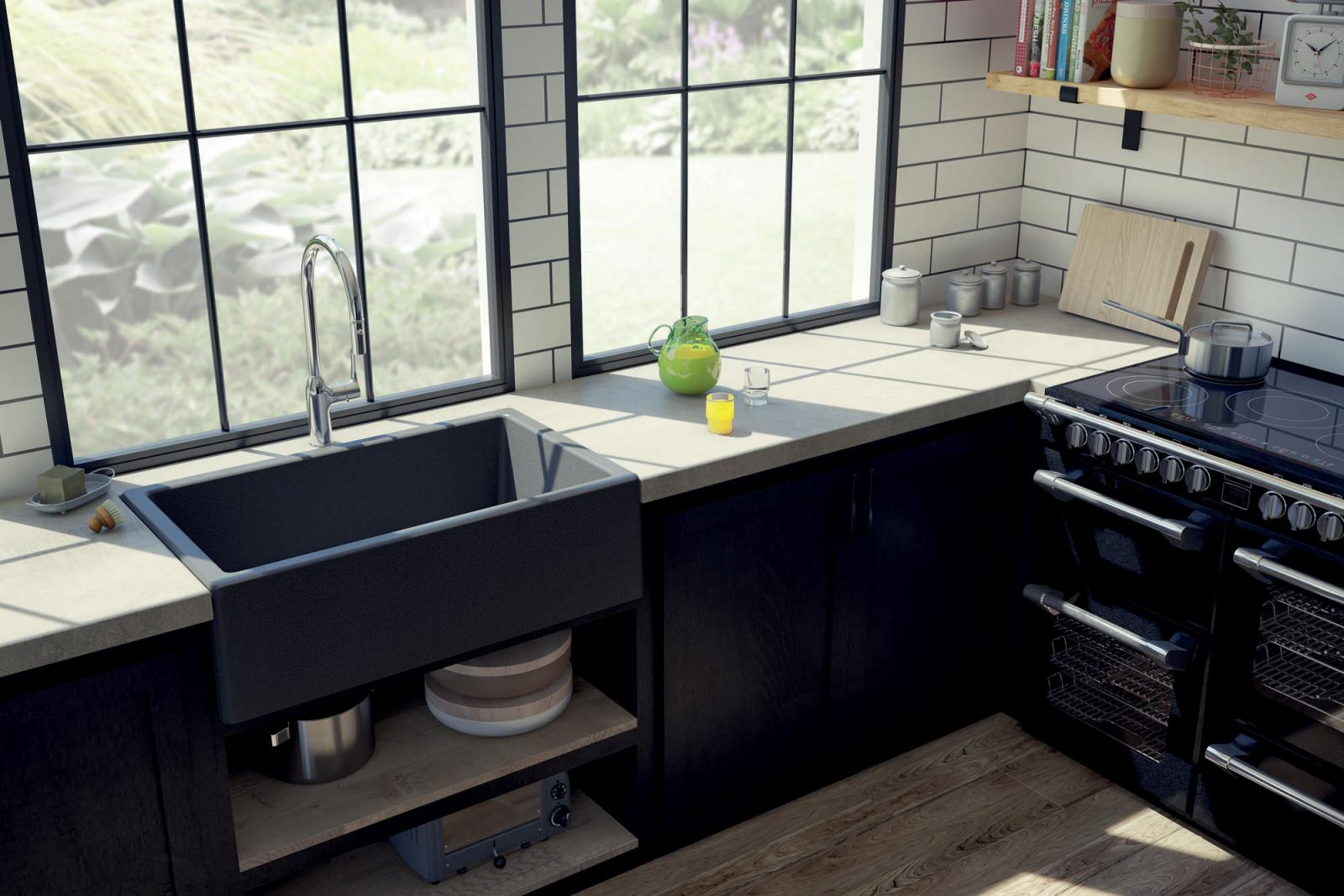 High-quality sink Philippe granit titanium gray ambiente 2 - one bowl