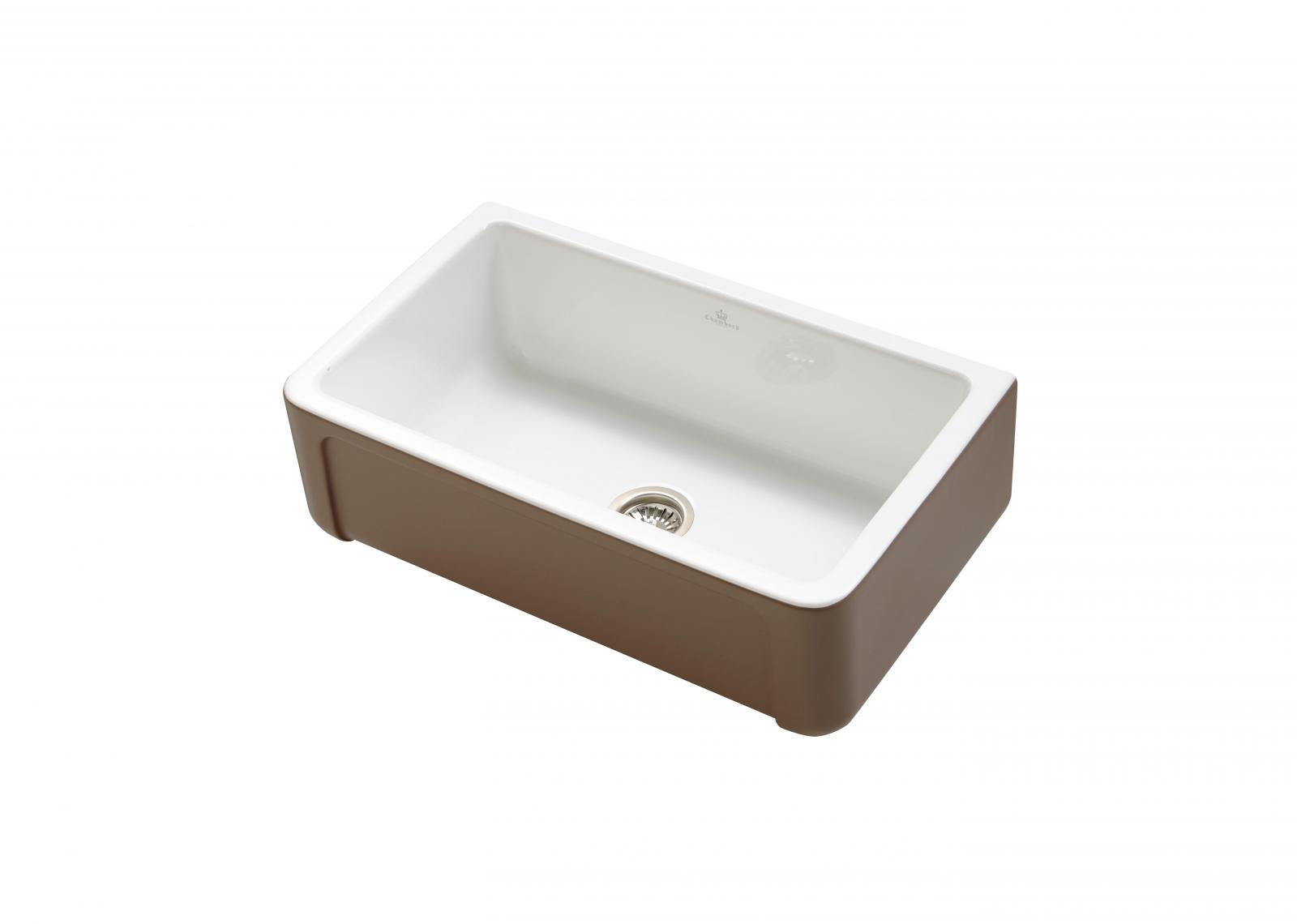 High-quality sink Henri II Le Grand Taupe - single bowl, ceramic ambience