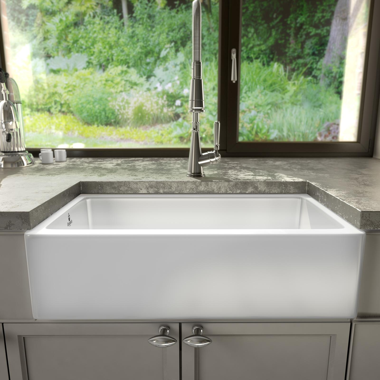 High-quality sink Philippe III - single bowl, ceramic - ambience 1