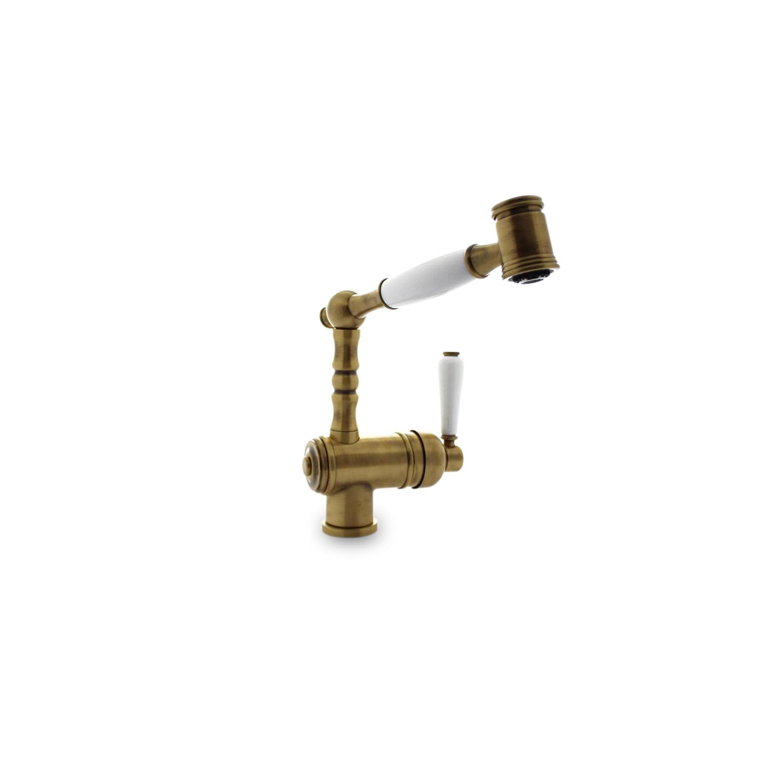 High-quality single lever tap Louise - pull out spray - Bronze - ambience 3
