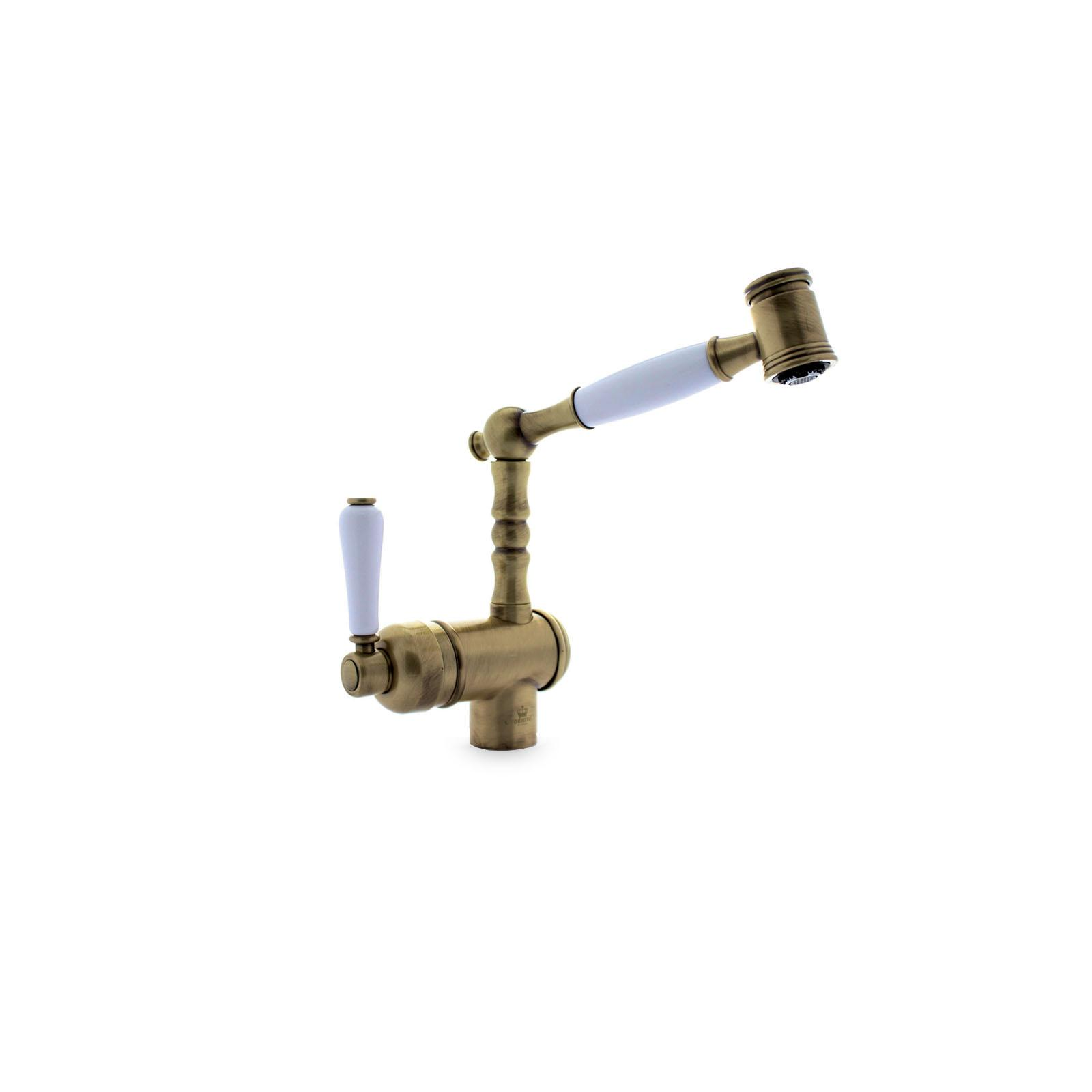 High-quality single lever tap Louise - pull out spray - Bronze - ambience 2