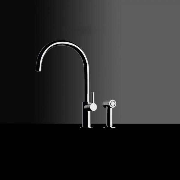 High-quality single lever tap Albertine - pull out spray - Chrome